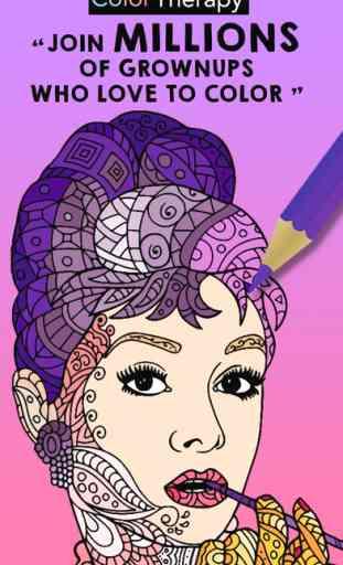 Color Therapy livre de coloriage pour les adultes 1