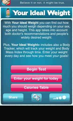 Votre Poids Idéal: calculatrice pour votre régime 1