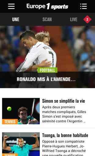 Europe1 Sports - votre appli sport 1