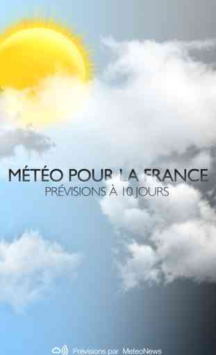 Météo pour la France 1