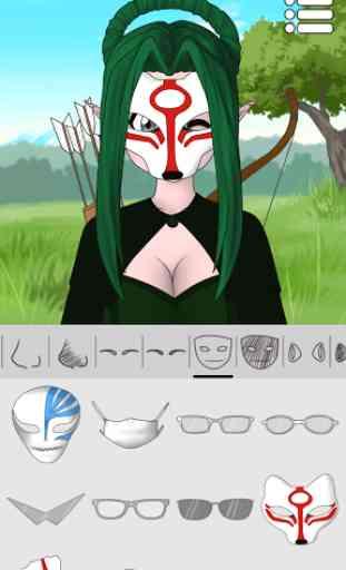 Créateur d'avatars : Anime 3