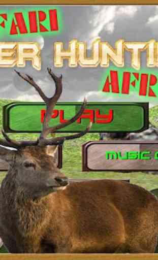 Safari Cerf Chasse Afrique 1