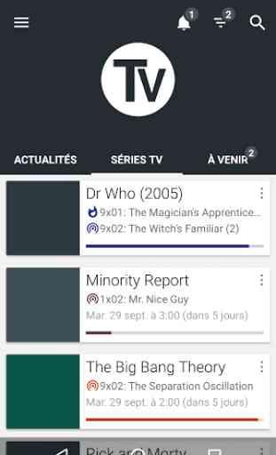 Séries TV - Gérer vos séries 1