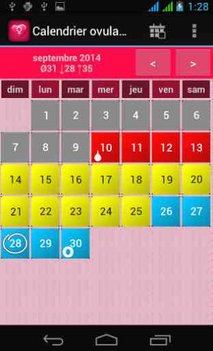 Calendrier Ovulation Et Regle.Calendrier Ovulation Et Regles Application Android