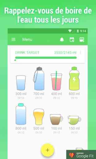 Rappel consommation d'eau 1