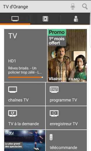 TV d'Orange, live-replay-vod 1