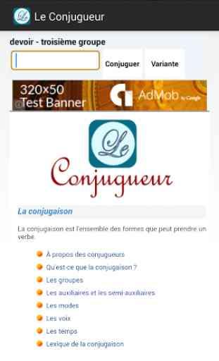 Le Conjugueur 3