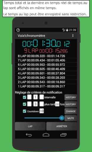 voix chronom tre minuteur application android allbestapps. Black Bedroom Furniture Sets. Home Design Ideas