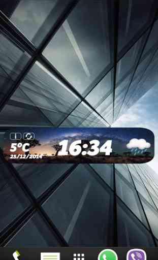 Impressionnant widget horloge 3