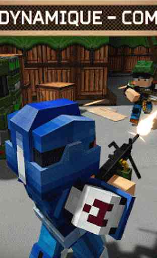 Blocky Cars Online jeux de tir 3