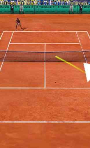 Le tennis chiquenaudé 3D 3