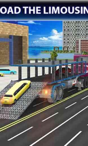 Limo Car Transporter Truck 3D 1