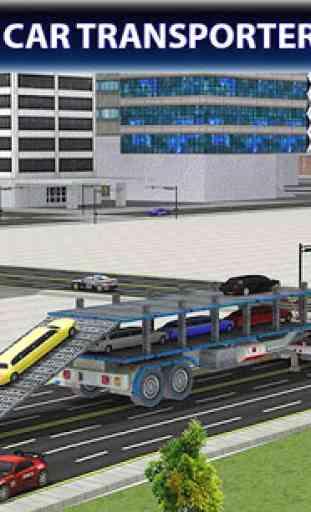 Limo Car Transporter Truck 3D 2