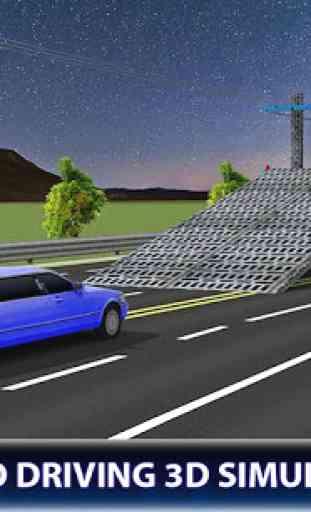 Limo Car Transporter Truck 3D 3