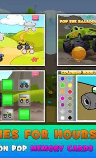 monstre camions enfants jeu 3