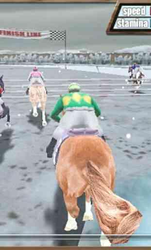 Course de chevaux 3D 3