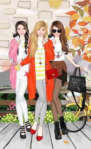 Mode automne jeu d'habillage 2