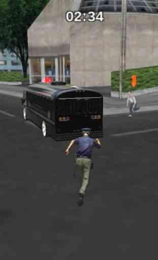 Police bus prison transport 3D 1