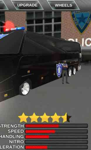 Police bus prison transport 3D 2
