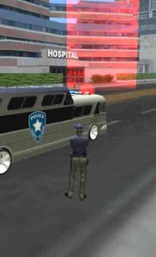 Police bus prison transport 3D 4