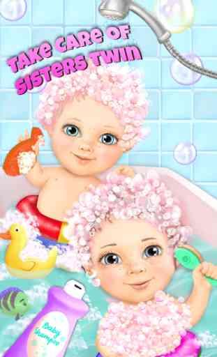 Sweet Baby Girl Twin Sisters 4