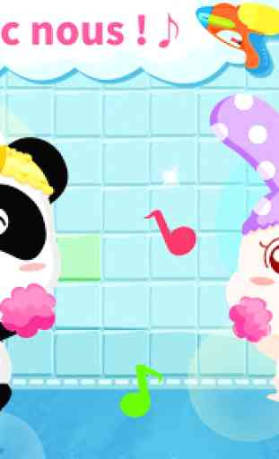 Toilette de bébé panda - Éveil 3