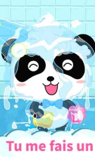 Toilette de bébé panda - Éveil 4