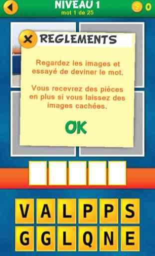 4 Images 1 Mot:Quel est le mot 3