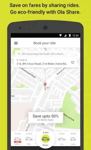 Ola cabs - Book taxi in India 2