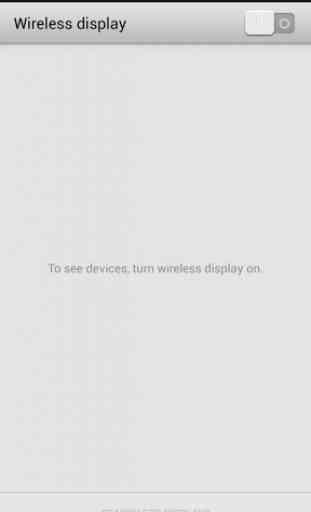 Wifi affichage (Miracast) 2