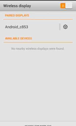 Wifi affichage (Miracast) 3