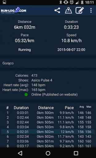 Course à pied,vélo Run-log.com 3