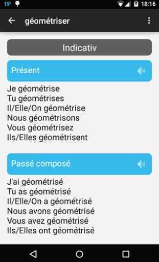 Conjugaison française 3