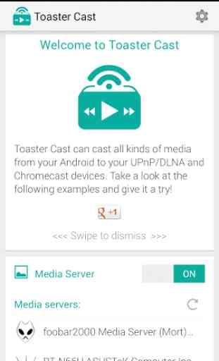 Toaster Cast DLNA UPNP Player 1
