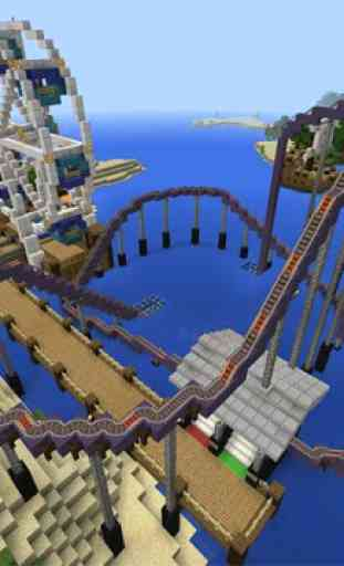 Amusement park map for MCPE 2