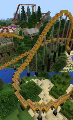 Amusement park map for MCPE 3