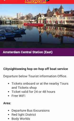 City Sightseeing Amsterdam App 2