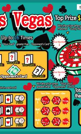 Jeux a Gratter Las Vegas 1