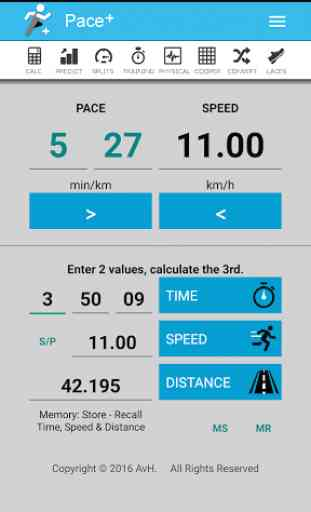 Pace Calculator [Pace+] 1