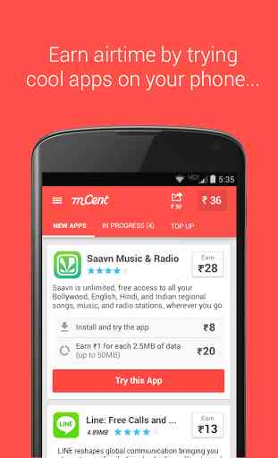 mCent - Free Mobile Recharge 1