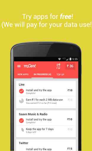 mCent - Free Mobile Recharge 2