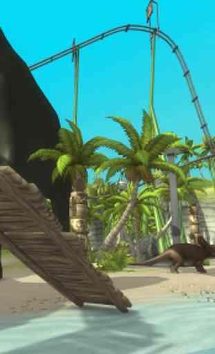 VR Jurassic RollerCoaster Park 3