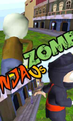 3D Zombie VS Ninja Sufers Run 1