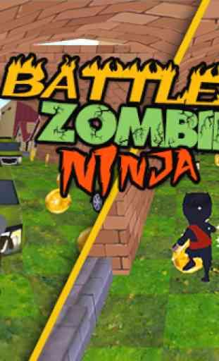 3D Zombie VS Ninja Sufers Run 2