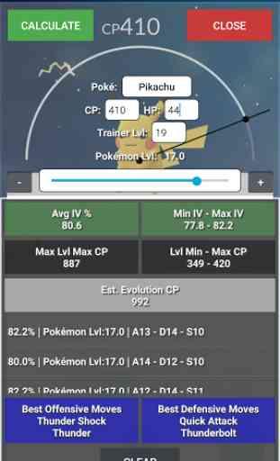 IV Calculator - PokeGo Master 3