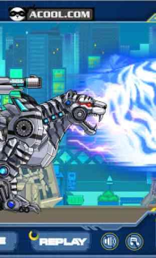 Toy Robot War:Robot Snow Tiger 4