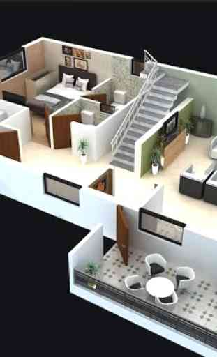 Maison 3d Etage Application Android Allbestapps