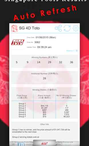 Singapore Pools Toto 4D Result 3