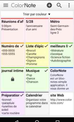 ColorNote Bloc-notes notes 1