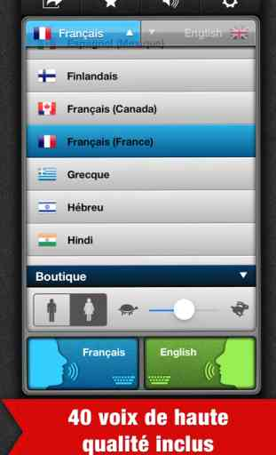 application traducteur vocal